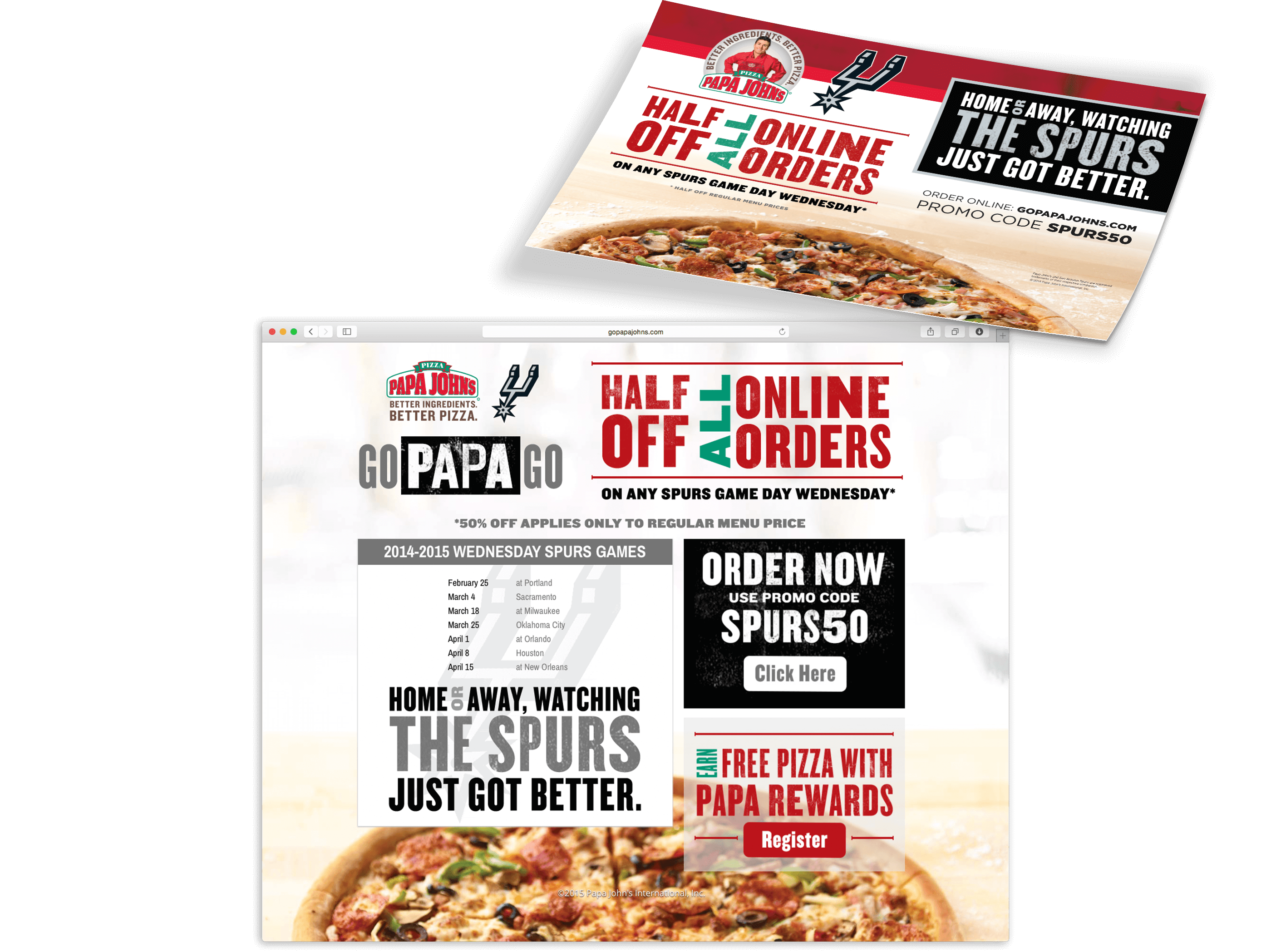 Papa John\'s Pizza | Texas Creative | Website Design Graphic Design ...
