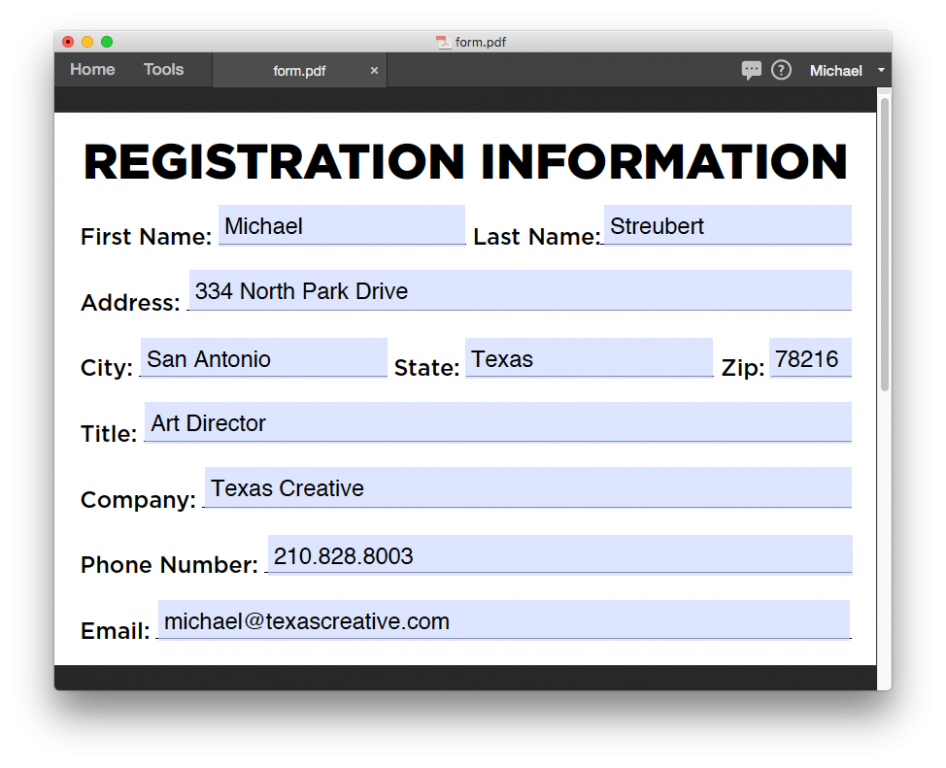 Automated form-field styling: Goodbye Times New Roman, hello