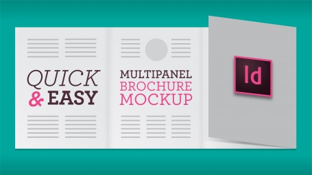 Quick, Easy Multipanel Brochure Mockup (InDesign)