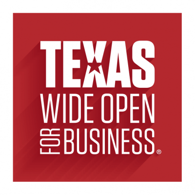 Texas Wide Open for Business logo