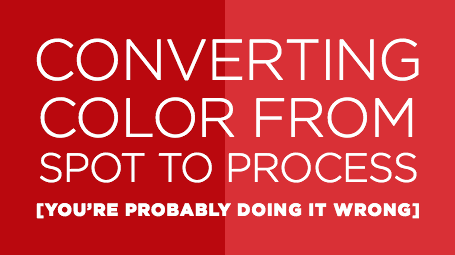 Converting spot color to process color in Illustrator or