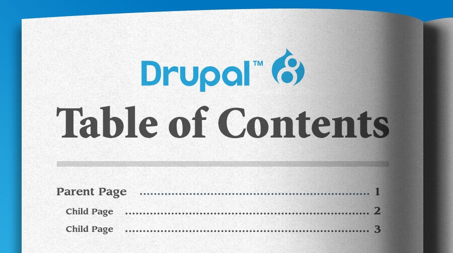 Drupal 8 Custom Table of Contents Block for Book Content| Texas
