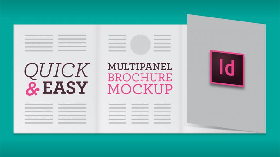Multipanel Brochure Mockup (InDesign)