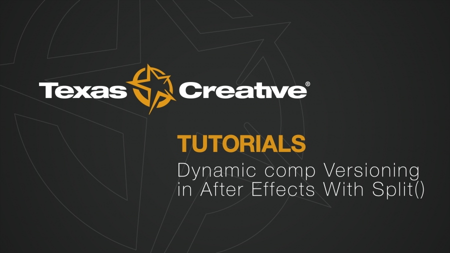 Dynamic Comps in After Effects with Split